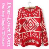 Winter Geometric Rhombus Retro Red Knitting Apparel
