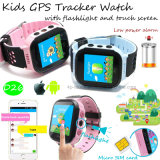 Newest Touch Screen Kids GPS Tracker Watch with Torch (D26)