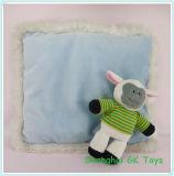 Blue Cushion with a Cute Sheep Plush Cushions