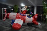 Santa Christmas Ornament Claus Fly Inflatable Airplane