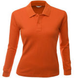 Women Apparel Fashion Cotton Polo Shirt