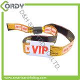 13.56MHz MIFARE Classic EV1 1K RFID woven wristband for Festival Event