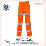 2017 Low Price Hi Vis Orange Work Pants with Reflective Stripe