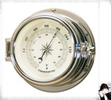 Nautical Thermometer Brass Case Dial 81mm