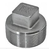 Stainless Steel Threaded Pipe Fitting Square Plug with Male Thread