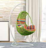 New Outdoor Swing, Rattan Furniture, Rattan Basket Rattan Hanging Swing Chair D014