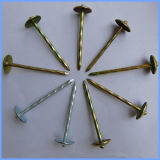 Yellow and White Color Gi Mushroon Head Roofing Nail