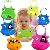 Customized Eco-Friendly Soft Silicon Bibs for Baby