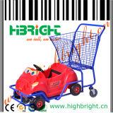 Kids Metel Plastic Supermarket Shopping Cart for Children