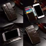 PU Leather Wallet Case Protective Flip Stand Cover for Phone