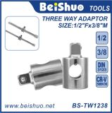 Full Polished Cr-V Three Way Adaptor for Socket Wrench