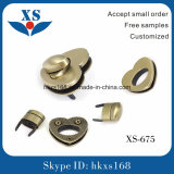 Fashion Brushed Anti-Brass Custom Bag Metal Clip Lock
