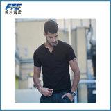 Custom Top Quality Cotton Plain T Shirt with V Neck