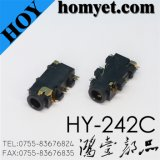 China Manufacturer 2.5mm 6pin SMD Phone Jack/RCA Connector (HY-242C)
