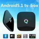 Hot Selling Q Box Amlogic S905 Android 5.1 TV Box RAM 2g ROM 16g 4k Kodi 16.0 Quad Core TV Box From