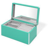 Elle Lacquer Jewelry Box, Turquoise