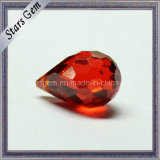 Hot Sell Red Fancy Shape Synthetic in Hole CZ Gemstone