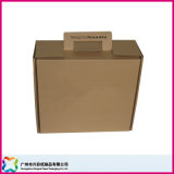 Brown Corrugated/Flute/Carton Packaging Box with Handle for Apparel
