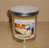Pure Scentefd Soy Candle in Glass Jar with Metal Lid