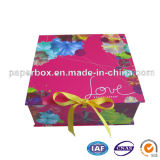 Foldable Paper Gift Box with Yellow Ribbon (FXS-039)