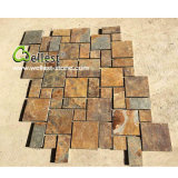 High Quality Rusty Brown Meshed Slate Driveway Pavers