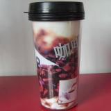 Fashion Plastic Travel Mug with Fashionable Design