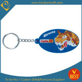 High Quality Die Casting Customized PVC Key Chain with Tiger Logo with Factory Price