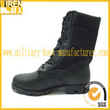 2017 New Design Top Quality Black Genuine Leather Fashionable Military Combat Boot