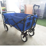 Outdoor Portable Folding Utility Wagon with 600d Fabric