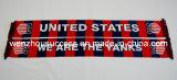 Knitted Jacquard Scarf; Football Scarf. Soccer Scarf - USA Yanks Scarf