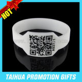 Custom Qr Code Silicone Bracelet Watch Shape Wristband (TH-08850)