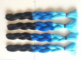 100% Kanekalon Ombre Two Tone Jumbo Braid Synthetic Hair Extension