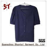 Wholesale Leisure Large Round Neck Button Shirt