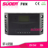 Suoer 12V 24V 30A Portable Solar Charge Controller PWM Solar Controller (ST-L1230)