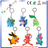 Pokemon 3D Cartoon Rubber Keychain for Promotion Gift