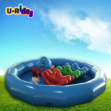 Inflatable swimming circle pool with single tube