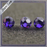 Hot Sell Synthetic Violet in Hole Cubic Zirconia Stone Loose Beads
