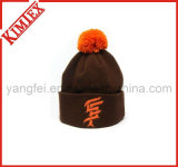 Fashion Acrylic Knitted Hat with Embroidery