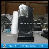 Russian Pure Black Granite Polishing Monument for Cemetery