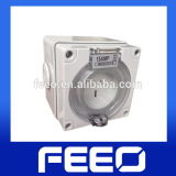 CE IP66 25A 200V Weather Protected Wall Switched Waterproof Socket&Plug