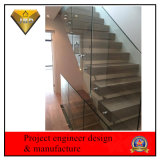 Stainless Steel Modern Interior Staircase Glass Railing