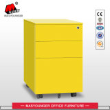 Metal Storage 3 Drawer Mobile Pedestal Cabinet