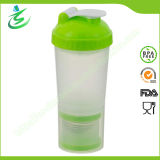600ml BPA Free Protein Shaker Bottle with Small Containers