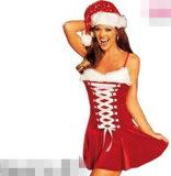 Sexy Santa Mini Dress Fashion Christmas Costume (FS5808)