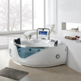 CE 15.6inch TV Corner Two Person Whirlpool Bathtub (BF-8803)