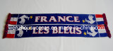 Knitted Jacquard Scarf; Football Scarf. Soccer Scarf -France Scarf