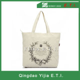 High Quality Zippered Cotton Canvas Tote Bag