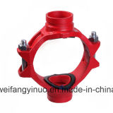 300 Psi Ductile Iron Threaded Mechanical Cross with FM/UL Approval