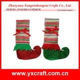 Christmas Decoration (ZY16Y265-1-2 37X24CM) Elf Foot Shape Christmas Wine Bag