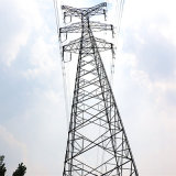 35 Kv Double Circuit Power Transmission Lattice Tower